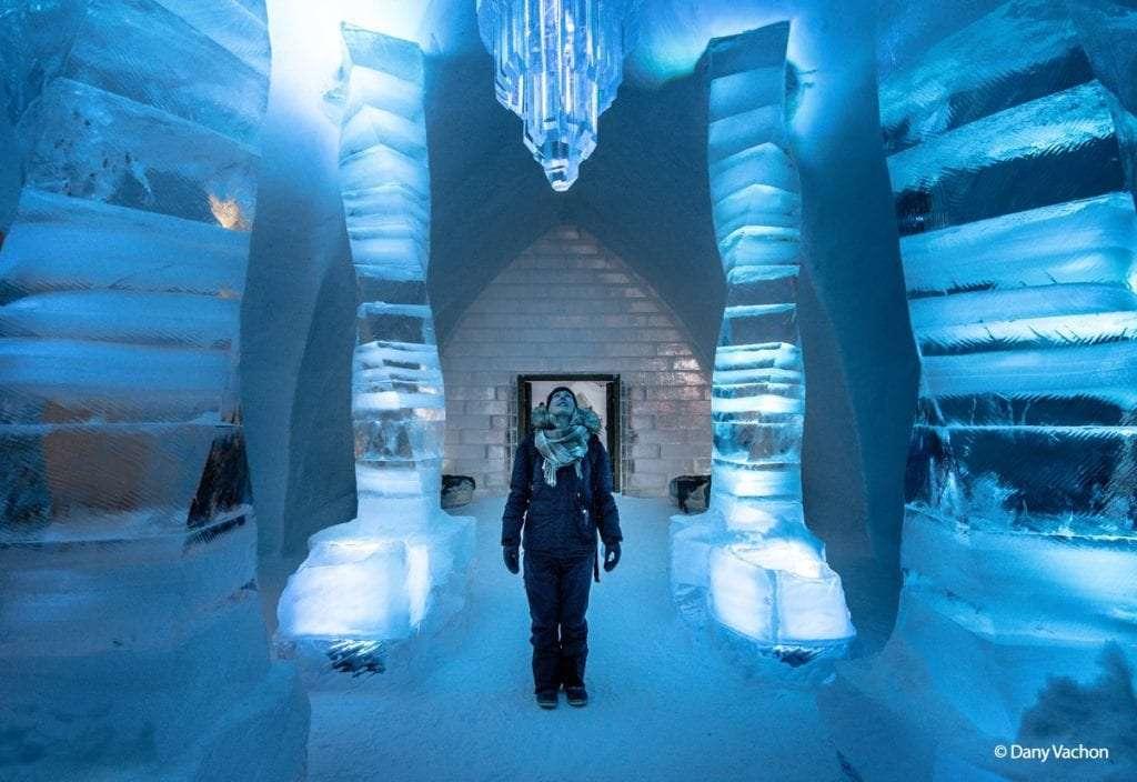 Grand Hall - L'Hôtel de Glace de Québec(ou comment tomber amoureux de l'hiver!) - Nomad Junkies