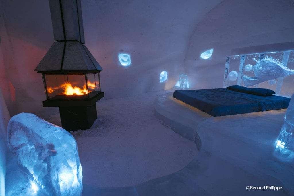 Chambre foyer - L'Hôtel de Glace de Québec(ou comment tomber amoureux de l'hiver!) - Nomad Junkies