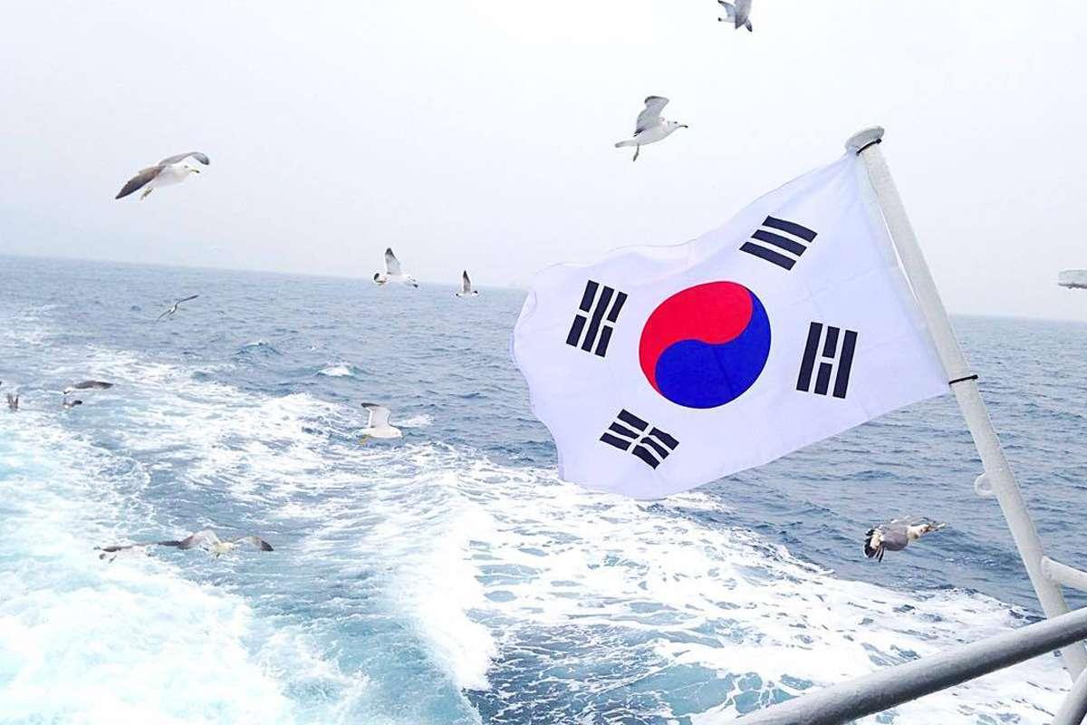 Drapeau - Corée du Sud sur un coup de tête - Nomad Junkies