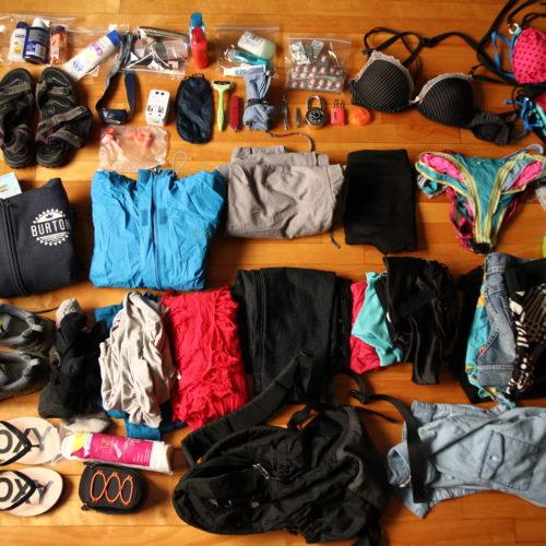 100 items pour sac à dos de voyage [tour du monde]