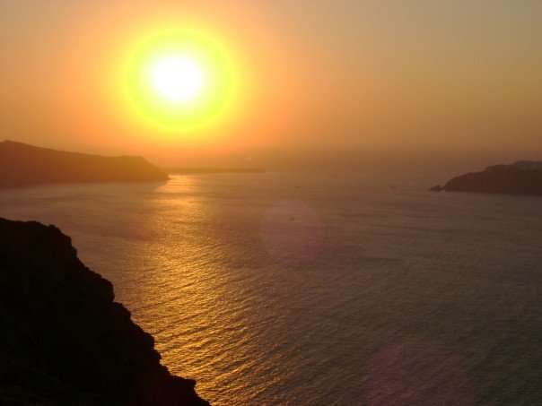 Coucher de soleil Santorini - Grèce - Nomad Junkies