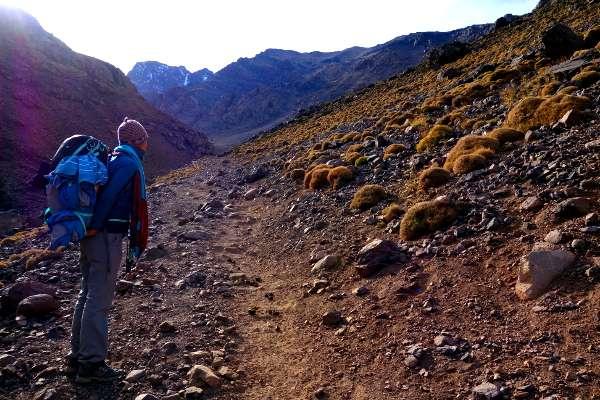 Toubkal Maroc en Backpack