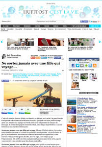Nomad Junkies sur Huff Post