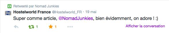 Nomad Junkies et Hostelworld