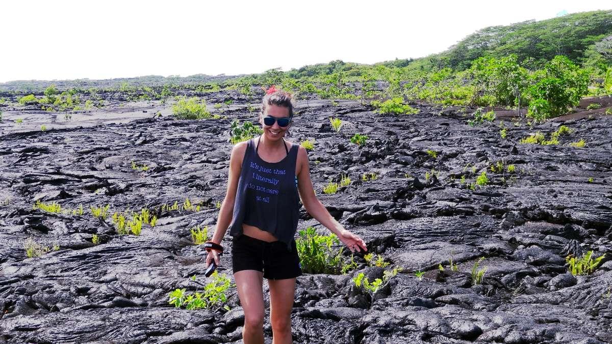 Les îles Samoa en Océanie - champs de lave volcanique