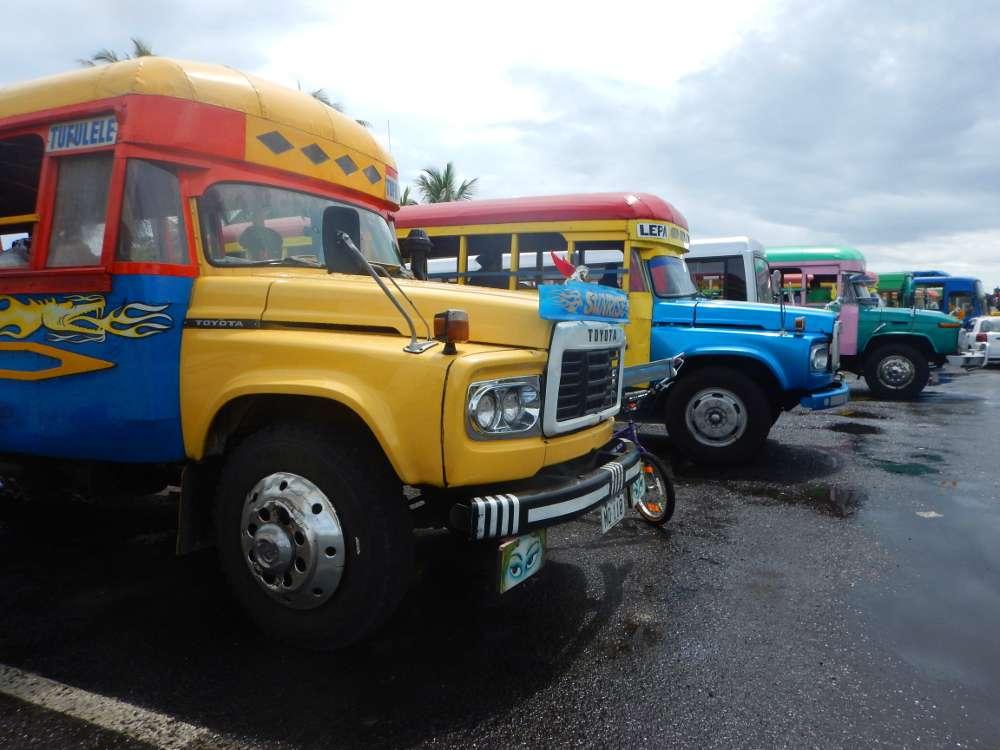 Voyager en sac à dos Polynésie îles Samoa autobus