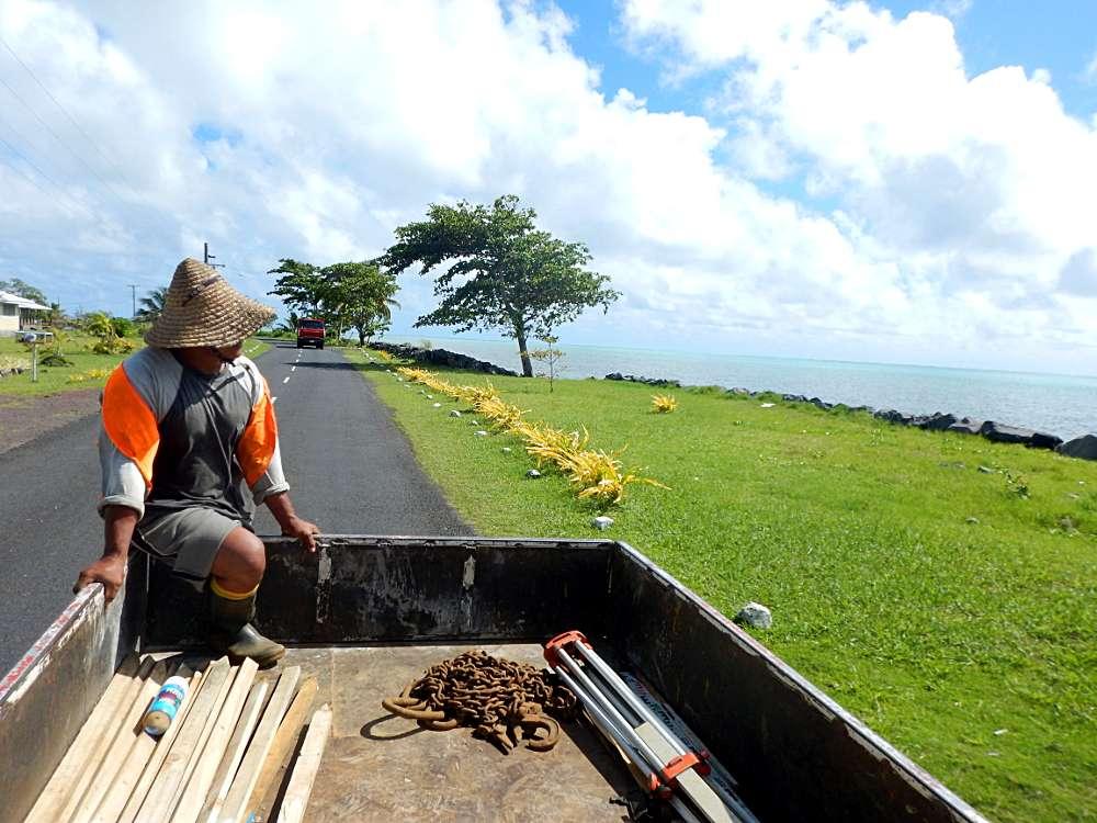 Voyager en sac à dos Polynésie îles Samoa autoshop (faire du pouce)