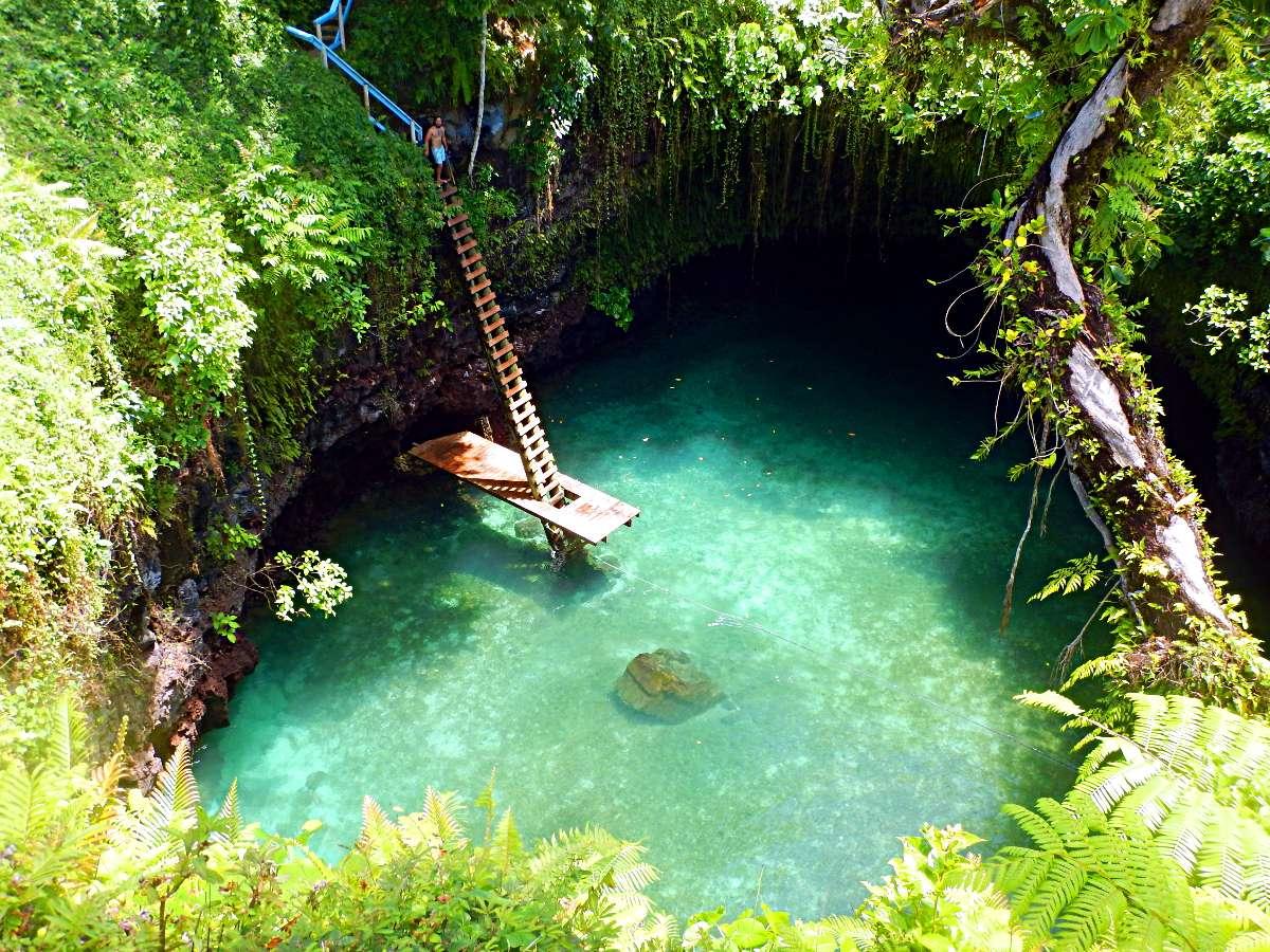 Voyage Pacifique Polynésie : îles Samoa Lotofaga piscine
