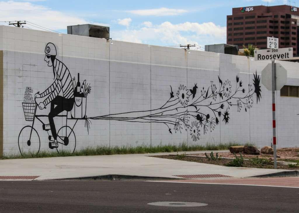 Steet art Roosevelt Row Phoenix Nomad Junkies