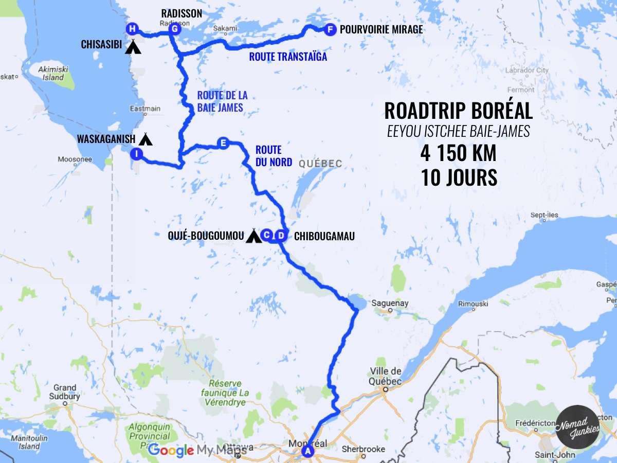 Itinéraire 10 jours à la Baie James - Québec - Nomad Junkies