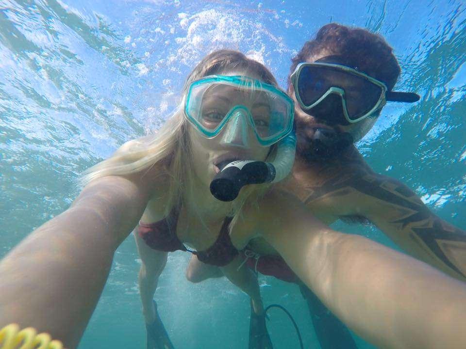 Sous l'eau - Portrait de nomades : Lindsay et Nicolas en voilier autour du monde - Nomad Junkies