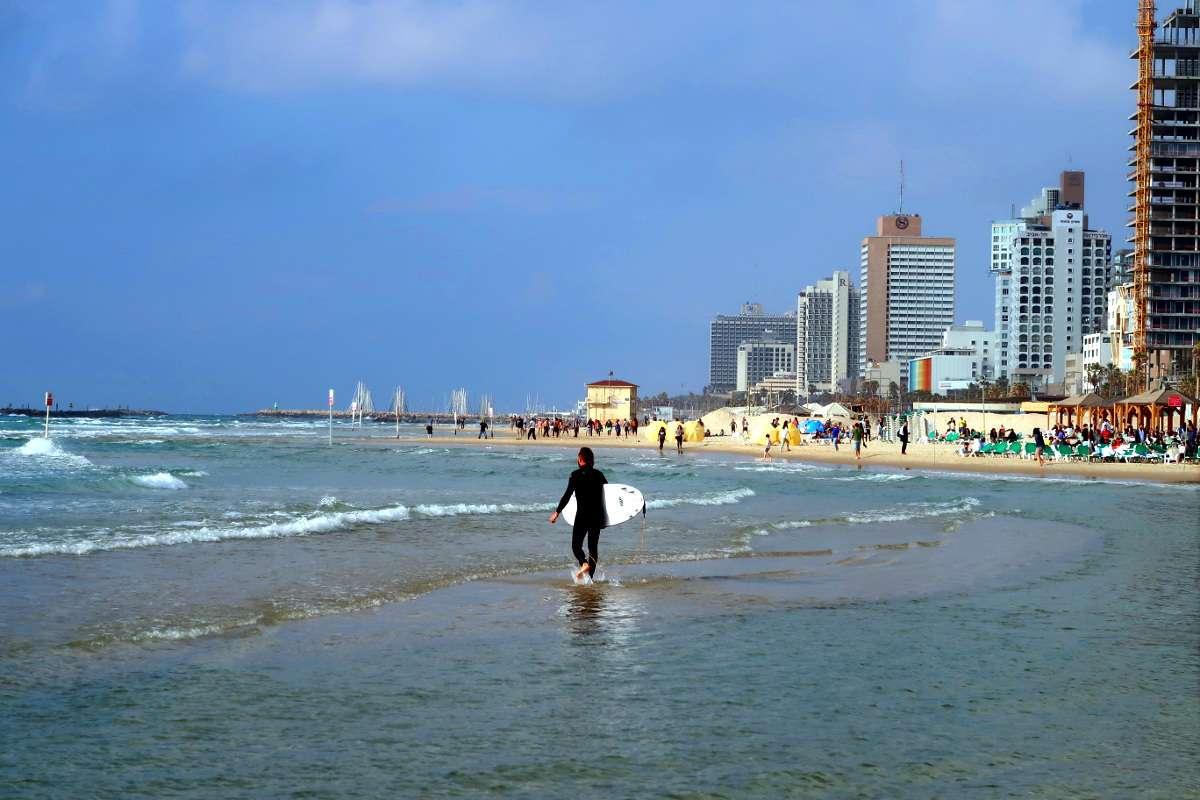 Tel Aviv Plage Surf Nomad Junkies