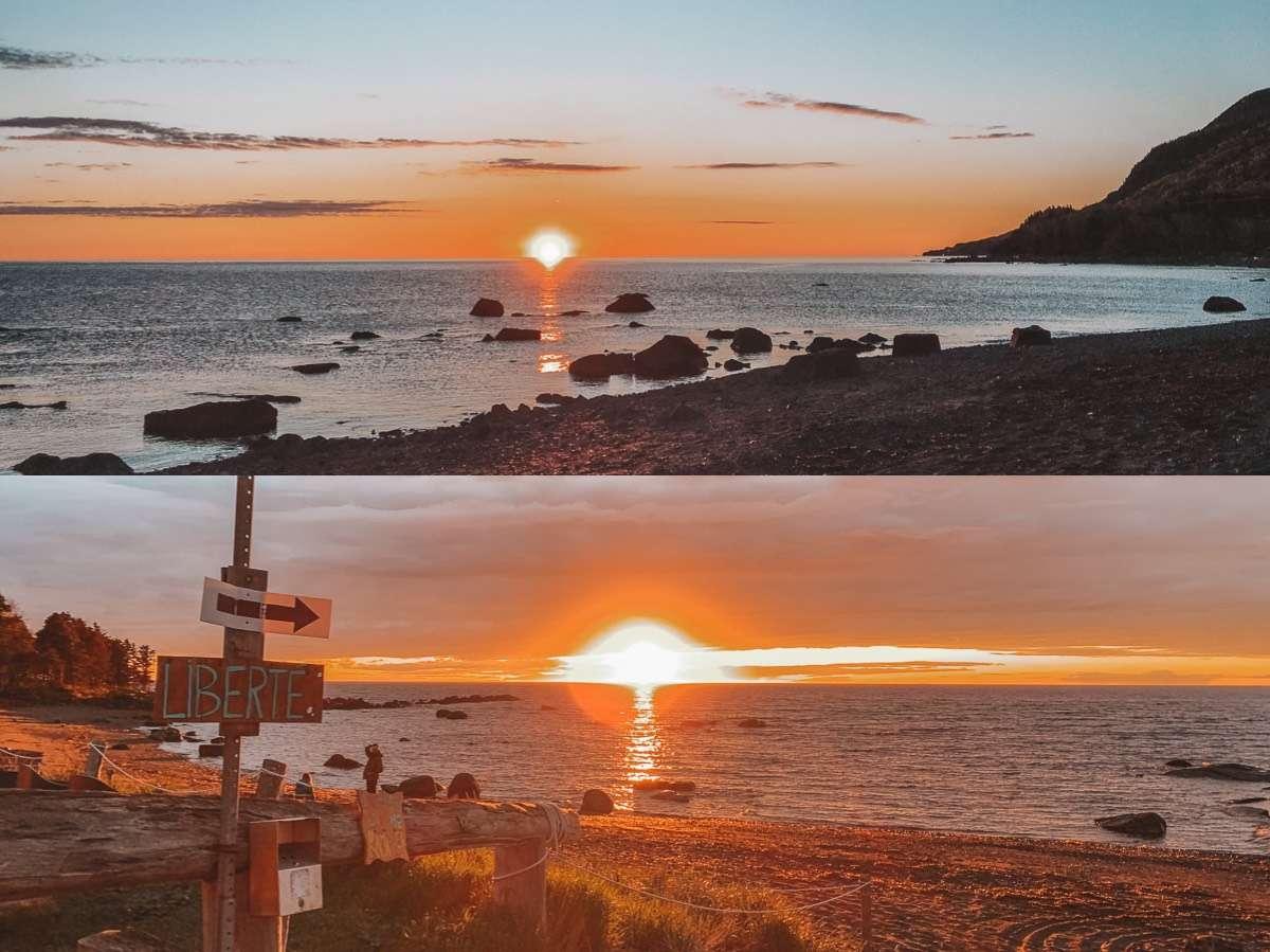 Lever et coucher du soleil Sea Shack