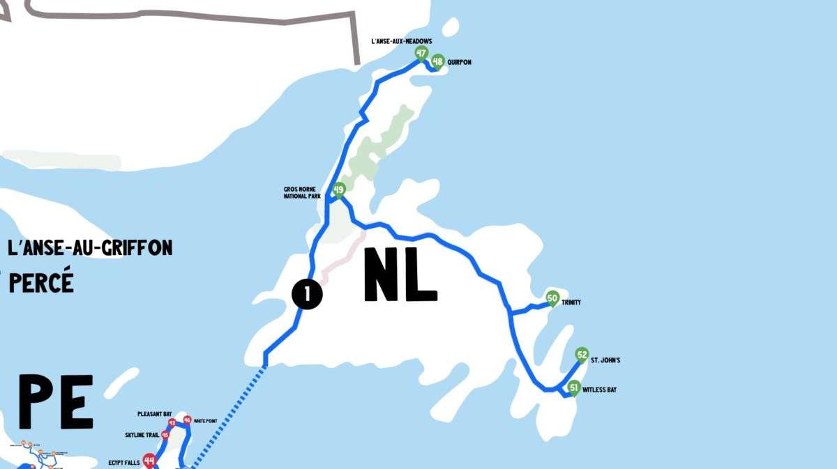 Map Newfoundland