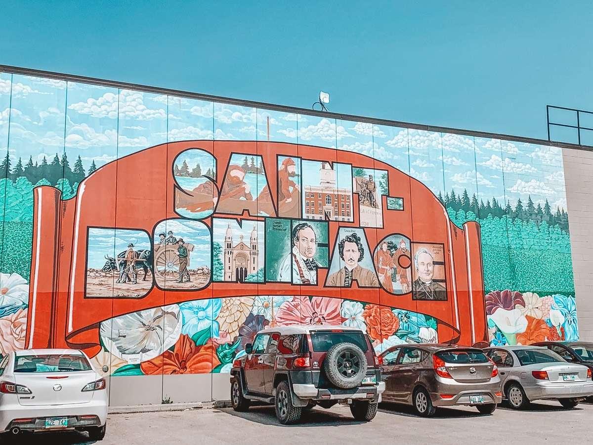Saint-Boniface Mural Manitoba